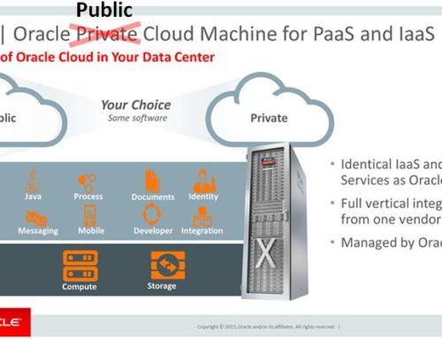 Oracle Public Cloud Confusion