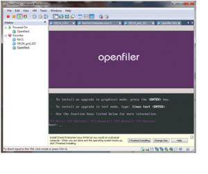 Openfiler install screen