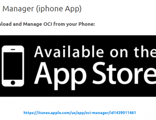 Iphone app 'OCI Manager' for Oracle Cloud